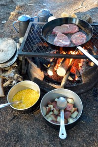 Maine canoe and camping trip meal