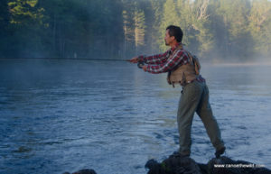 Maine guide, fishing, fly fishing, small mouth bass, canoe trip