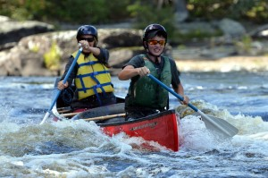 Maine whitewater canoeing